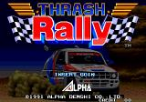Thrash Rally Arcade Title Screen.