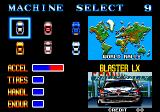 Thrash Rally Arcade Machine Select.