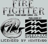 Fire Fighter Game Boy Credits