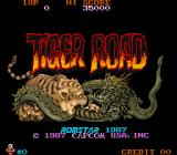Tiger Road Arcade Title Screen.
