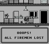 Fire Fighter Game Boy Game over