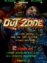 Out Zone Arcade Title screen