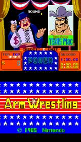 Arm Wrestling Arcade Title screen