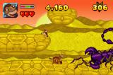 The Land Before Time Collection Game Boy Advance One of the bosses you'll have to fight is this large scorpion