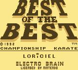 Best of the Best Championship Karate Game Boy Best of the Best