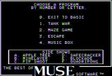 The Best of MUSE Apple II The Best of MUSE main menu
