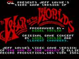 Jeff Wayne's Video Game Version of The War of the Worlds ZX Spectrum Another title screen