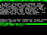 Jeff Wayne's Video Game Version of The War of the Worlds ZX Spectrum Got to choose the right answer to survive