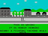 Jeff Wayne's Video Game Version of The War of the Worlds ZX Spectrum Starting out