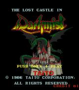 The Lost Castle In Darkmist Arcade Title screen
