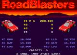 RoadBlasters Arcade High scores