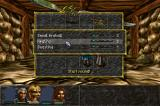 Albion DOS A standard battle in an interior 3D location. Note the spell selection and spell levels displayed