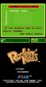Rockin' Kats Arcade Title screen