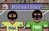 Rocket Ball Commodore 64 Title Screen.