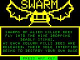 Swarm Atom Title screen / instructions, pt 1