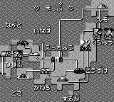 Downtown Special: Kunio-kun no Jidaigeki da yo - Zenin Shūgō! Game Boy The world map