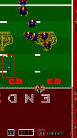 Touchdown Fever Arcade He's in the Endzone.