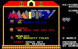 Mappy Sharp X1 (New version) Title screen