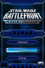 Star Wars: Battlefront - Elite Squadron Nintendo DS Title/menu screen.