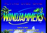 Windjammers Arcade Title Screen.