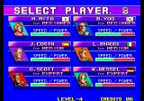 Windjammers Arcade Select Player.