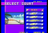 Windjammers Arcade Select Court.