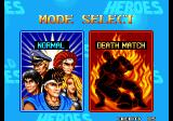 World Heroes Arcade Mode Select.
