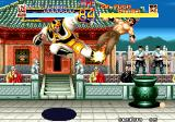 World Heroes Arcade Flying kick.