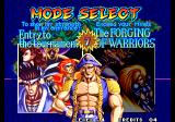 World Heroes 2 JET Arcade Mode Select.