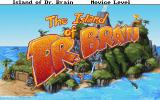 The Island of Dr. Brain DOS Game title