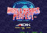 World Heroes Perfect Arcade Title Screen.