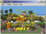 3D Ms. Maze: Tropical Adventures Windows Here the game is being played in low resolution, windowed mode. The main menu, and all sub menus, are shown over a rolling demo of the game