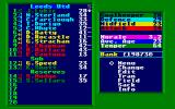 Leeds United Champions! Atari ST Squad overview: players and their skills, possibility to change positions or field substitute players