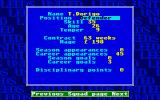 Leeds United Champions! Atari ST Detailed player info