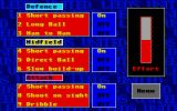 Leeds United Champions! Atari ST Tactics: ability to change the style of play of the different team groups
