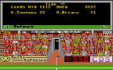 Leeds United Champions! Atari ST Top game in division 4: luckily Mr. Cantona saved the day. The game view is non-interactive, no subs can be done or tactics changed during the game