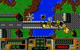 Firehawk Atari ST The destruction of a bridge is rewarded with an Extra weapon