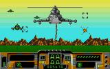 Firehawk Atari ST After landing, enemy helicopters attack in a pseudo 3D mini-game