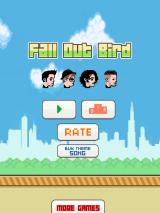 Fall Out Bird iPad Title screen, with all four band members displayed