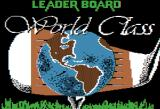 World Class Leader Board Apple II Title screen