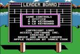 World Class Leader Board Apple II The main menu
