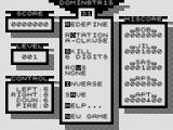 Dominetris ZX81 Main menu