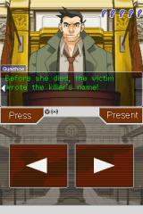 Phoenix Wright: Ace Attorney Nintendo DS Cross-examination