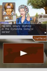 Phoenix Wright: Ace Attorney Nintendo DS Interrogating the witnesses.