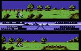 Pro Mountain Bike Simulator Commodore 64 Pushing the bike.