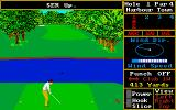 World Class Leader Board Amiga Teeing off at Harbour Town