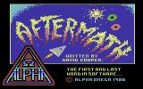 Aftermath Commodore 64 Loading Screen.