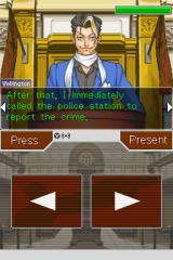 Phoenix Wright: Ace Attorney - Justice for All Nintendo DS Cross-examination.