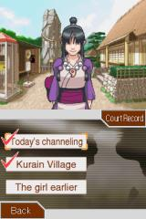 Phoenix Wright: Ace Attorney - Justice for All Nintendo DS Talking to Maya in her home village.