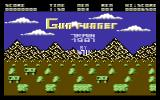 Gun Runner Commodore 64 Start Screen.
